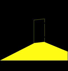 light under the door locked door with light vector image