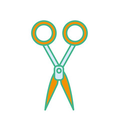 Medical scissors tool surgery accessory vector