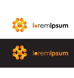 orange color logo sign icon logotype vector image vector image