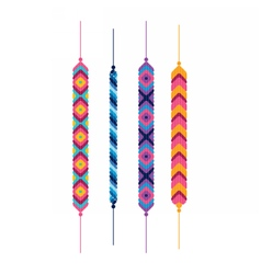 Set of friendship hippy bracelets vector image vector image
