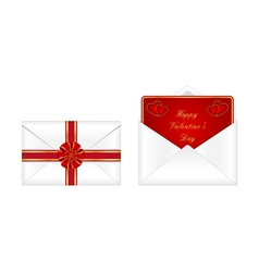 Valentines day envelopes vector image vector image
