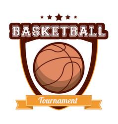 basketball tournament sport banner vector image