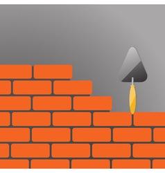 bricks and trowel 02 vector image vector image