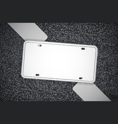 frame for advertising asphalt road advertising vector image