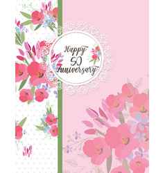 Greeting card for anniversary birthday vector