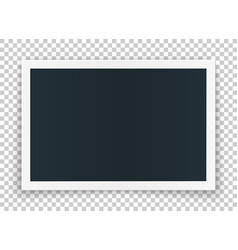 horizontal photo frame concept isolated on vector image vector image