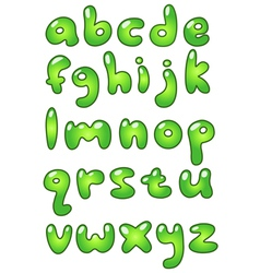 lower case eco bubble alphabet vector image vector image