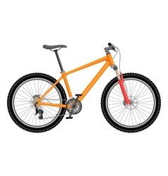 orange bike vector image
