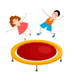 Abstract cartoon of a bright colored trampoline vector