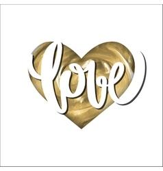 Acrylic goldemn heart vector