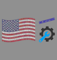 American flag stylized composition service vector