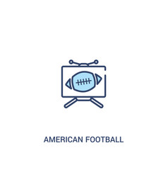 American football television concept 2 colored vector