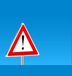 Attention sign background vector