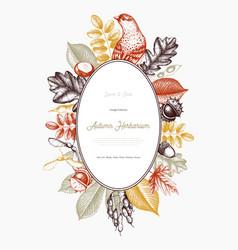 Autumn design card vector