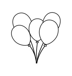 balloons birthday decoration vector image