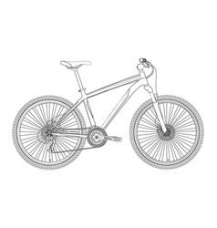 bike in vector image