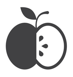black apple icon vector image