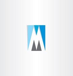 blue grey letter m logo vector image