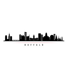 buffalo city skyline horizontal banner vector image