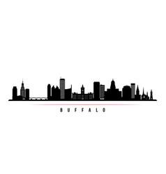 buffalo city skyline horizontal banner vector image