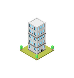 building isometric vector image