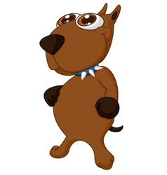 Cartoon Dog posing vector