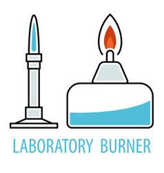 Chemical equipment burners vector