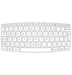 computer keyboard modern conceptual design vector image