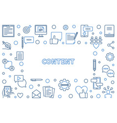 content concept thin line frame vector image
