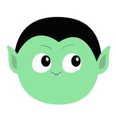 Count dracula round head cute cartoon funny vector
