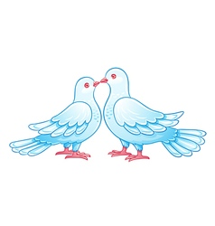 Couple of doves kissing eps10 vector