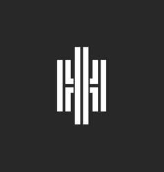 Creative monogram hi or ih initials logo vector