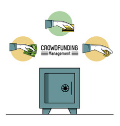 Crowfunding management infographic vector