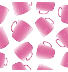 Cups seamless background Template for design vector image