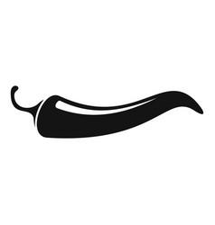 delicious chili pepper icon simple style vector image
