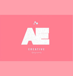 Design of alphabet letter logo ae a e combination vector