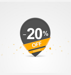discount percent pointer icon vector image