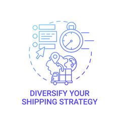 Diversify shipping strategy concept icon vector