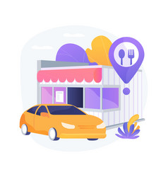 Drive-in restaurant abstract concept vector