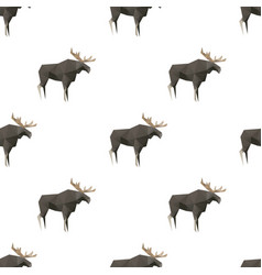 elk triangle shape seamless pattern backgrounds vector image
