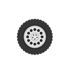 Flat truck wheel icon or logo element vector