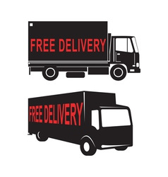 Free delivery truck retro vector