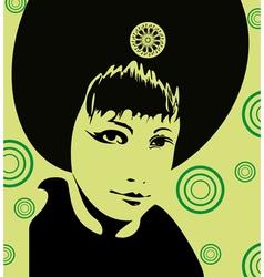 Girl Face Green vector image
