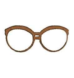 Glasses vintage frame icon image vector