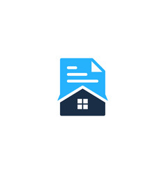 house document logo icon design vector image