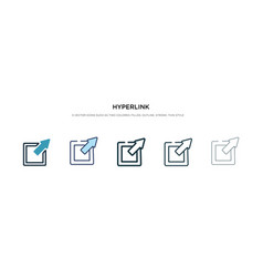 Hyperlink icon in different style two colored vector