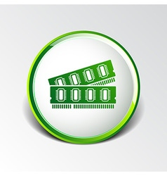 icon of memory chip RAM hardware rom power vector image