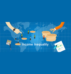 Income inequality gap wealth concept gini vector
