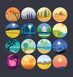 landscape 3 vector image