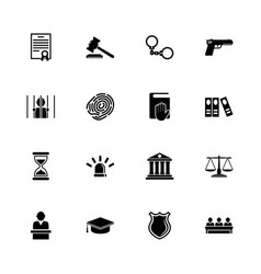 Law justice - flat icons vector